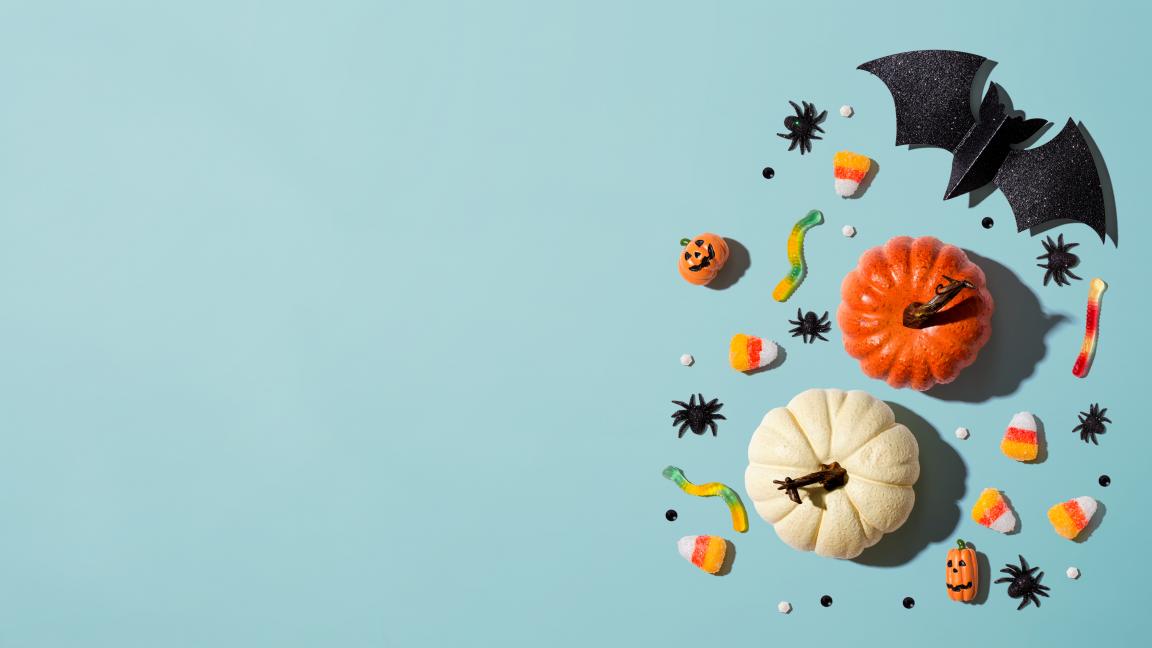 On mange les décos d'Halloween!