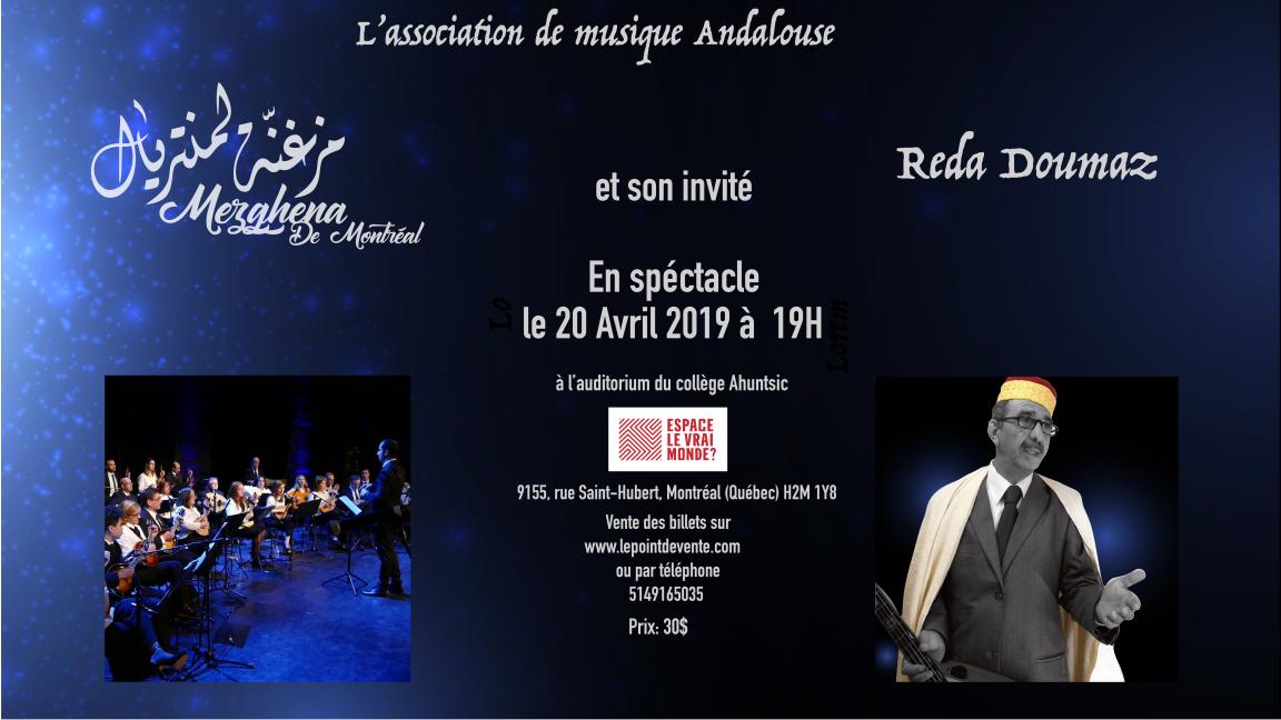 Mezghena de Montréal et Reda Doumaz en spectacle