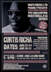 MoFo Music Ltd 呈獻 The Songwriting Masterclass Series: Curtis Richa: Curtis Richa –  – Wong Chuk Hang, Aberdeen