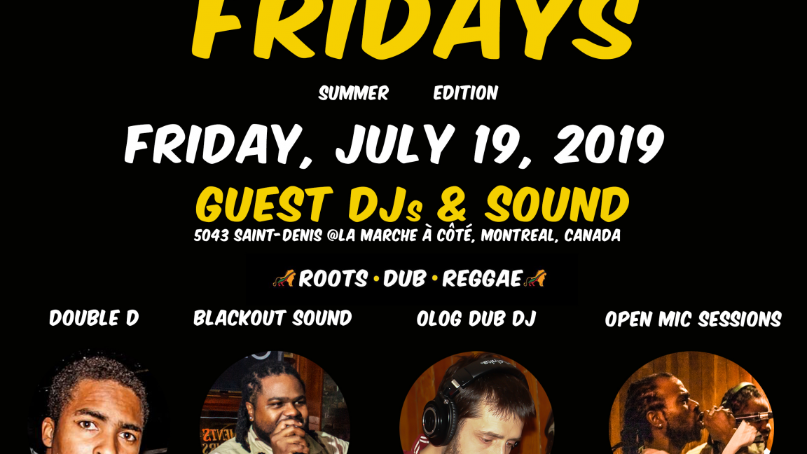 Dubwise Reggae Fridays ★ +OpenMic Sessions