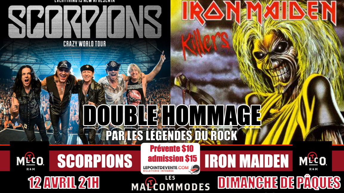 DOUBLE HOMMAGE A SCORPIONS ET IRON MAIDEN