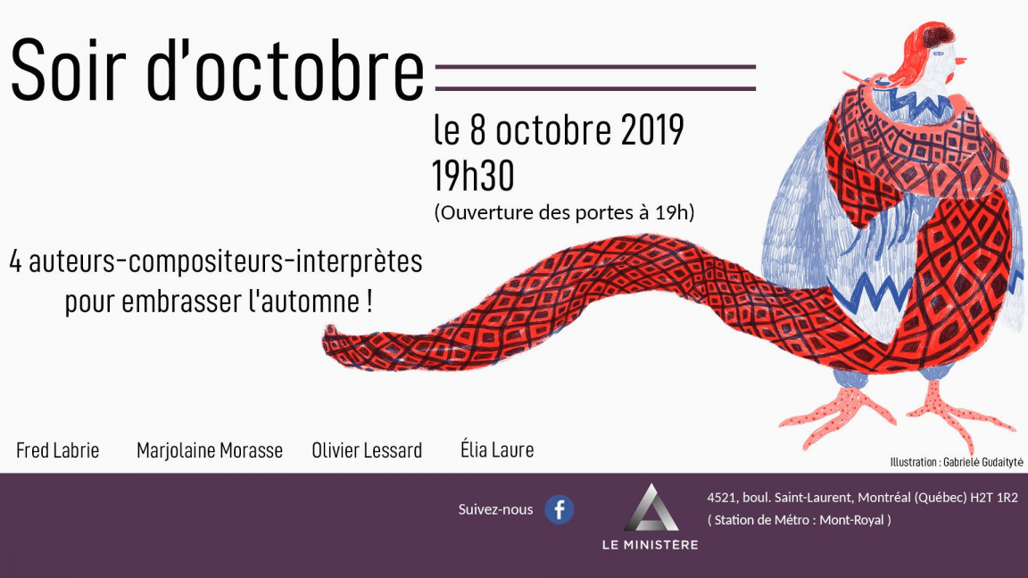 Soir d'octobre : plateau musical quadruple