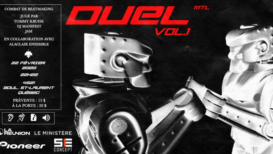 DUEL Vol.1/MTL/Combat de Beatmaking