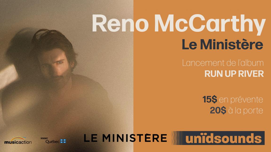 Lancement de l'Album Run Up River par Reno McCarthy (Webdiffusion)
