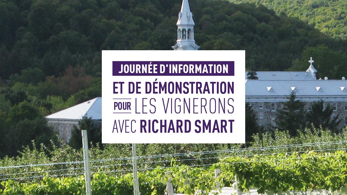Journée d'information et de démonstration pour les vignerons avec Richard Smart
