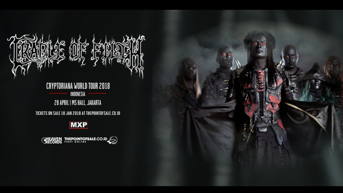 Cradle of Filth 'Cryptoriana World Tour 2018' Indonesia
