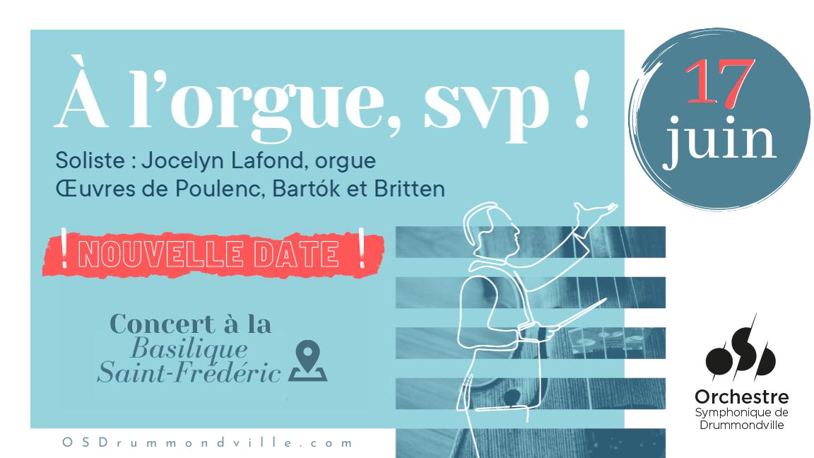 À l'orgue svp ! Les cordes de l'OSD et Jocelyn Lafond, orgue.  Oeuvres de Poulenc et Britten.