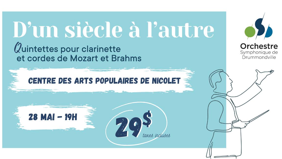 D'UN SIÈCLE À L'AUTRE - Quintettes pour clarinette et cordes (Nicolet)