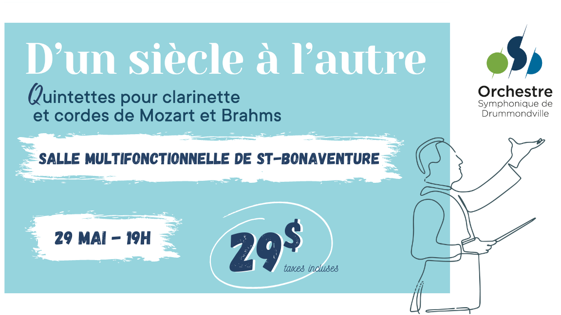 D'UN SIÈCLE À L'AUTRE - Quintettes pour clarinette et cordes (Saint-Bonaventure)