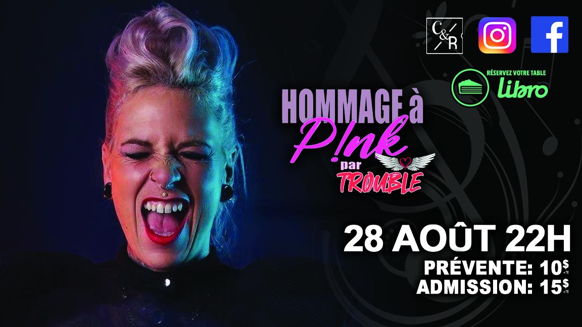 Hommage à Pink par Trouble chez Cécile et Ramone