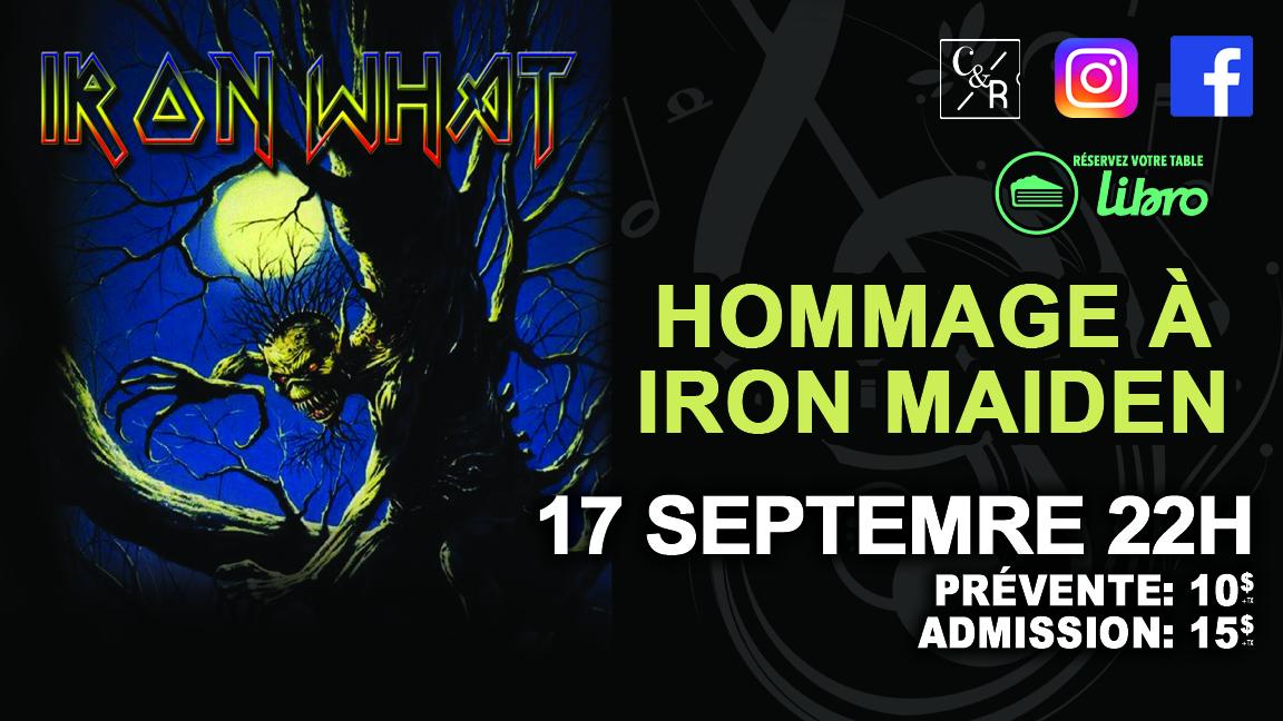 Iron What Hommage à Iron Maiden chez Cécile et Ramone