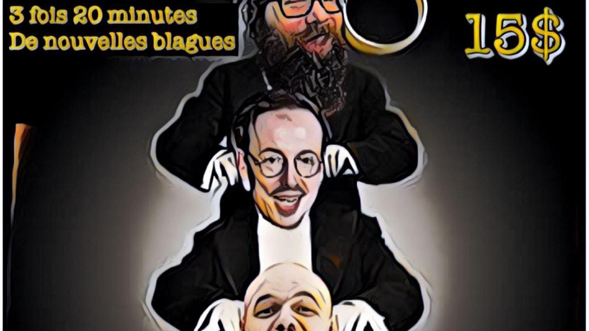 Soirée d'humour avec Guillaume Boldock, Samuel Lemieux et Pascal Cameron