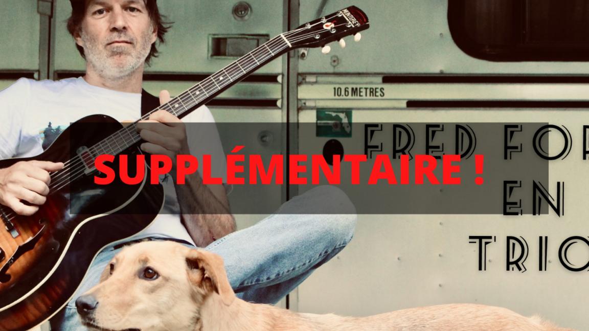 SUPPLÉMENTAIRE - Fred Fortin (trio) au Café du Clocher