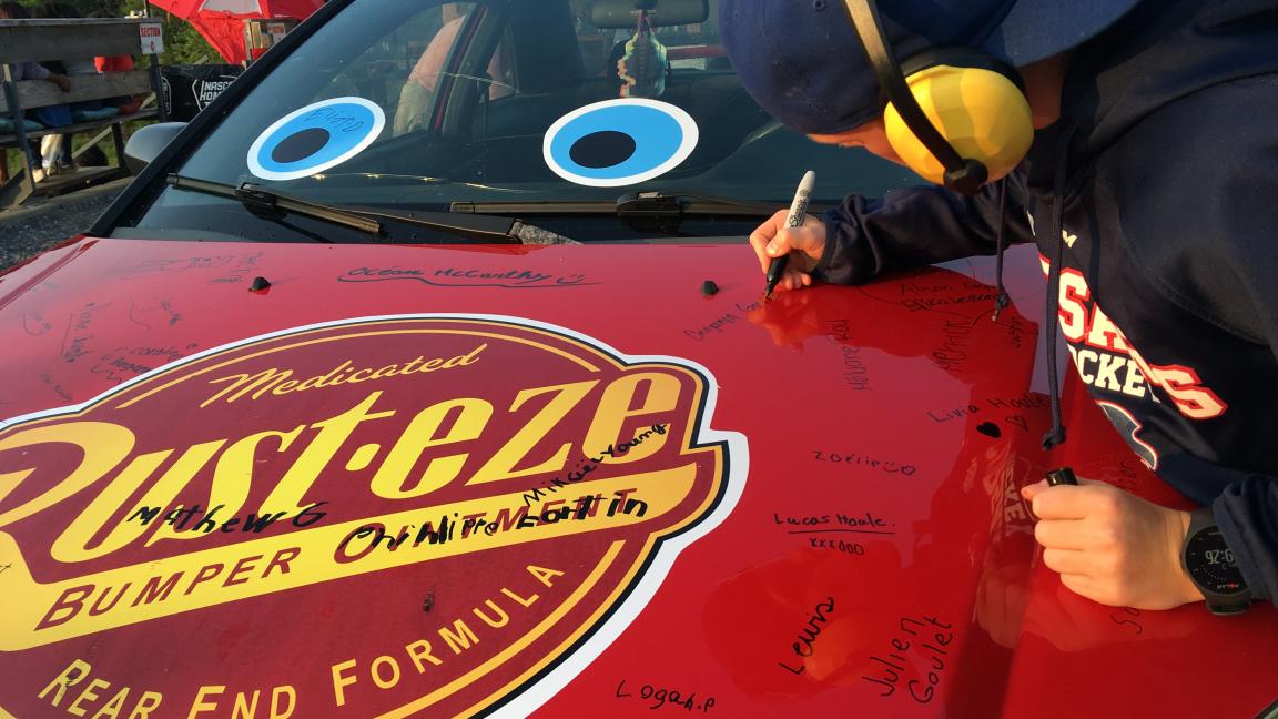 Billet du tirage pour participer à l'Enfer 200 avec la voiture de Flash McQueen