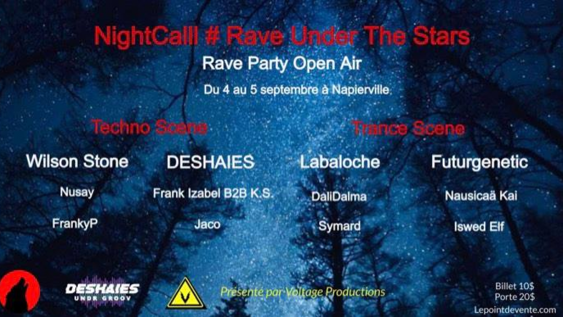 NightCalll # Rave Under The Stars - Rave Party Open Air