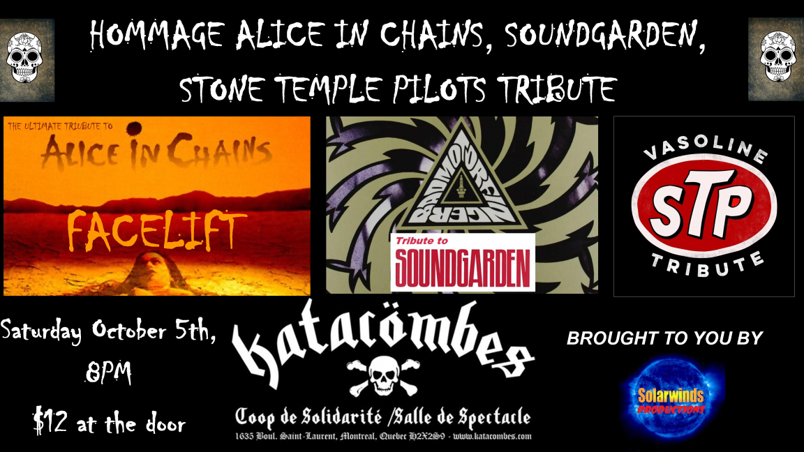 Hommage Grunge Tribute - Alice in Chains, Soundgarden & STP