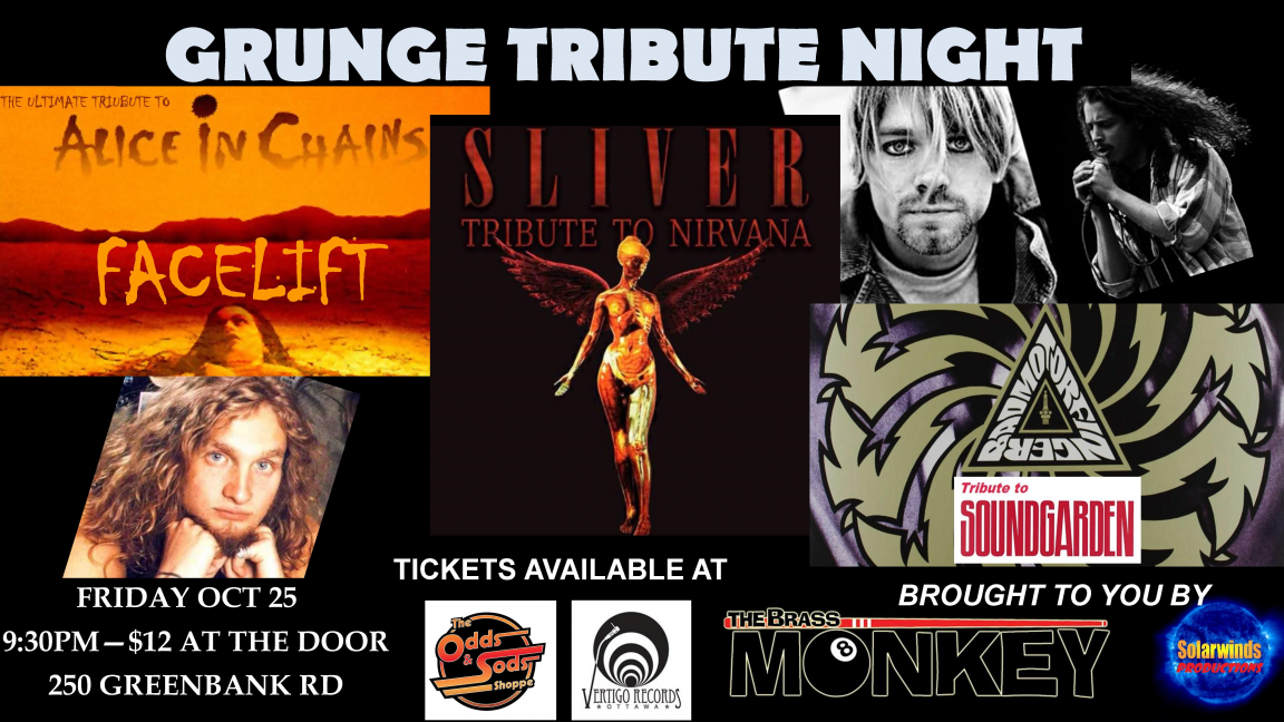 Grunge Tribute Night - Sliver (Nirvana), Facelift (Alice in Chains) & Badmotorfinger (Soundgarden)