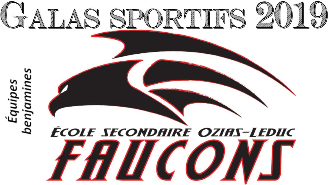 Gala sportif des Faucons de l'école secondaire Ozias-Leduc, équipes benjamines