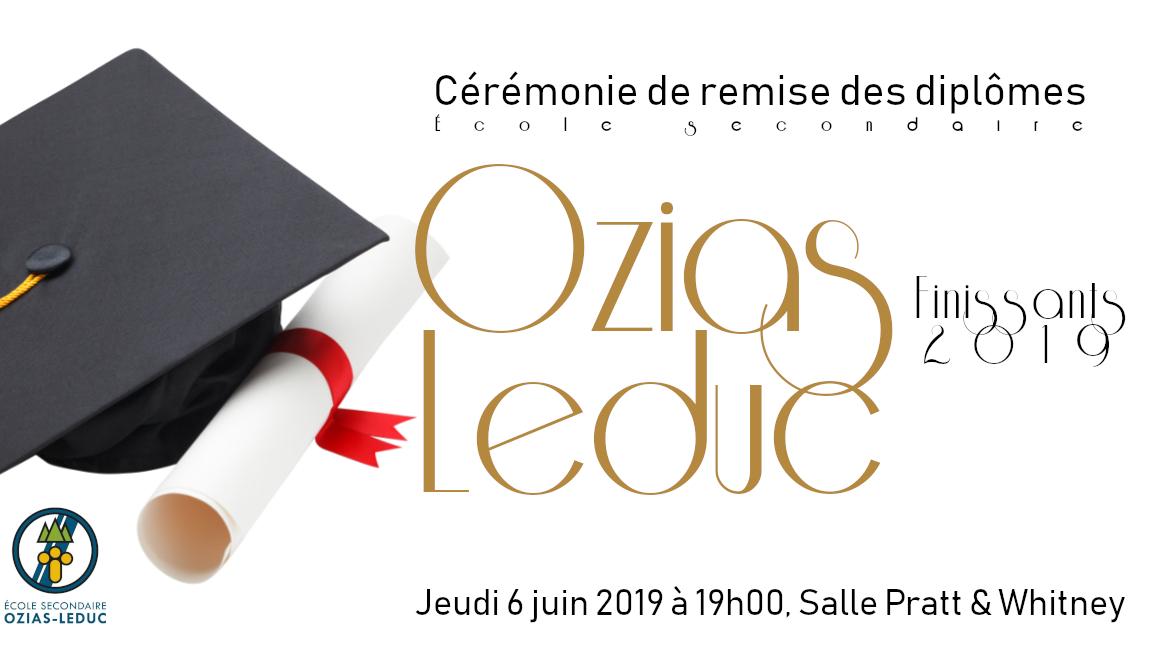 Remise des diplômes 2019, finissants Ozias-Leduc