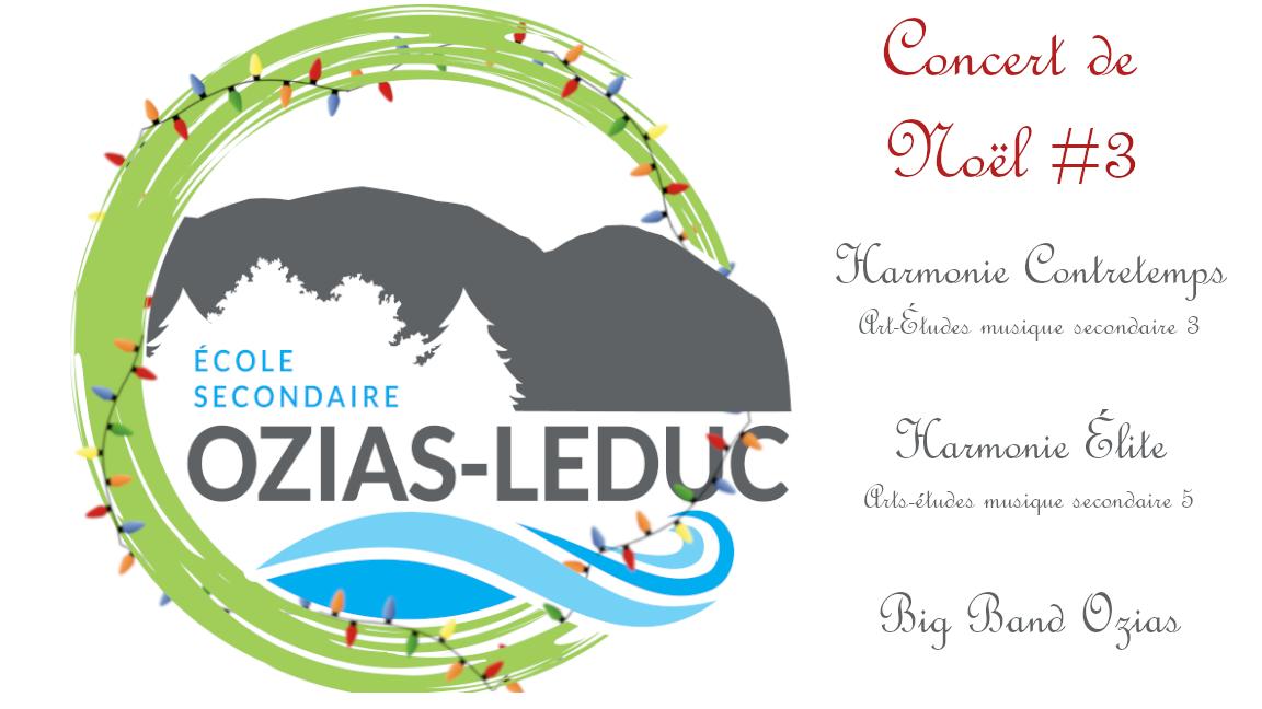 École secondaire Ozias-Leduc concerts de Noël 2019