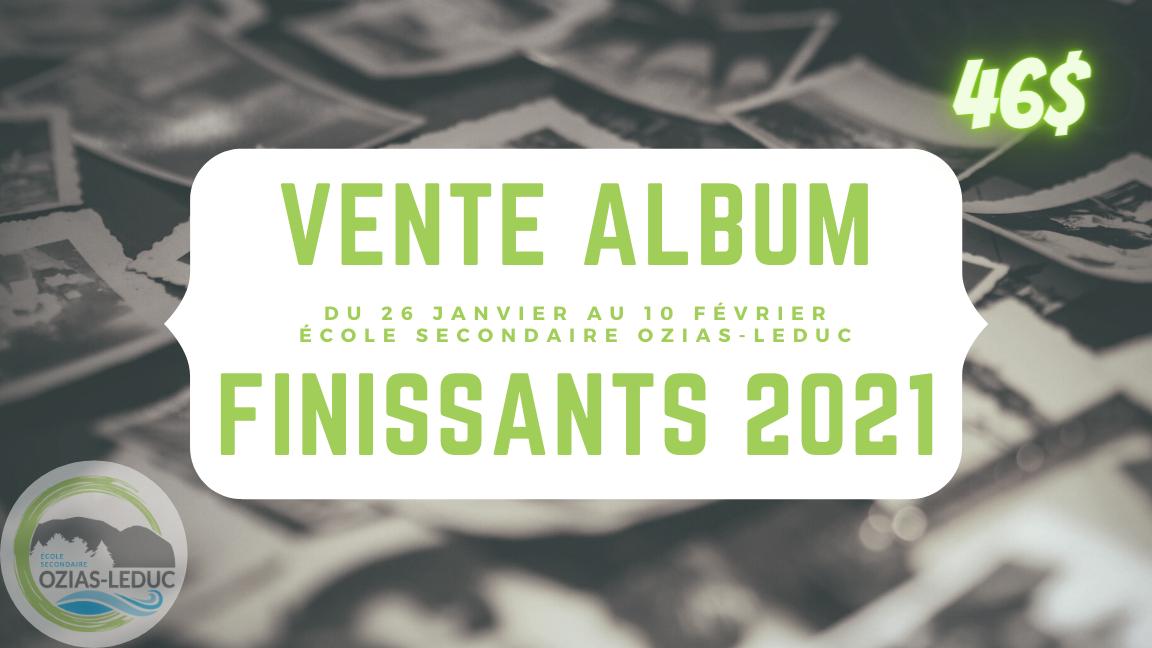 Album des finissants 2021, École secondaire Ozias-Leduc