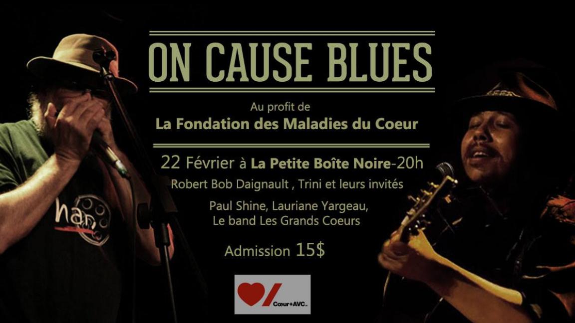 On cause blues // Soirée Bénéfice