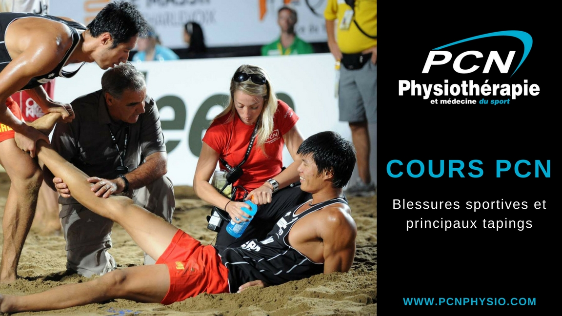 Cours PCN : blessures sportives et principaux tapings