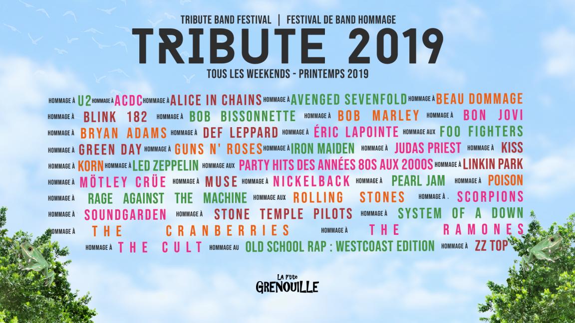 Billets de saison printemps : Tribute 2019. Accès à 30 événements, valide jusqu'au 21 juin 2019.