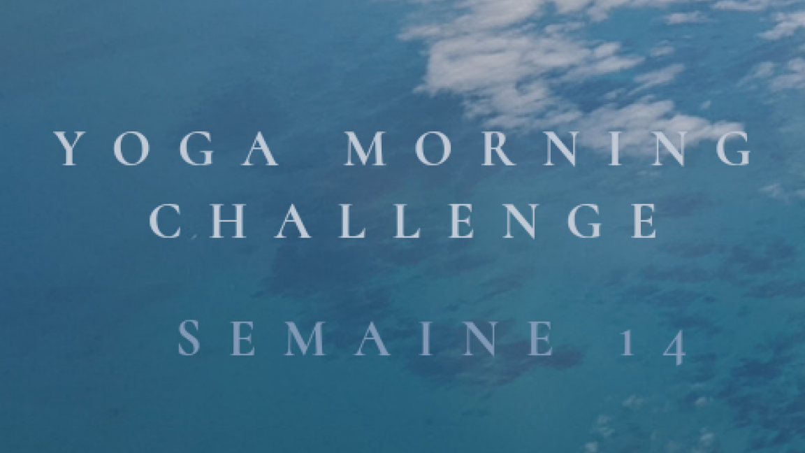 YOGA MORNING CHALLENGE - MERCREDI-  1 COURS EN DIRECT + REDIFFUSION