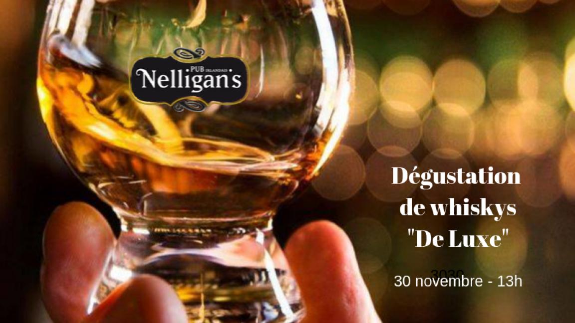 Dégustation de whiskys - De Luxe