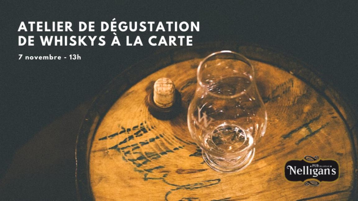 Atelier de dégustation de whiskys à la carte - avec André Girard (invité de marque)