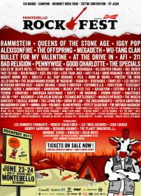 Montebello Rockfest 2017 – June 22 to 25, 2017 – Montebello, Montebello, QC
