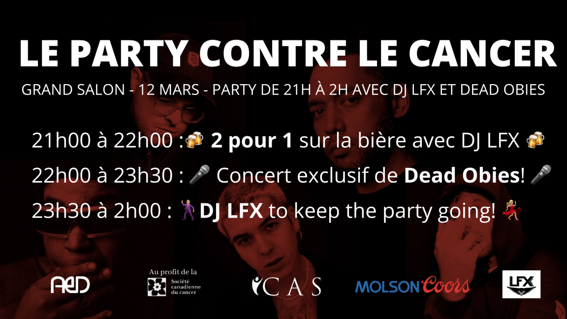 ANNULÉ / Le Party contre le Cancer - avec Dead Obies