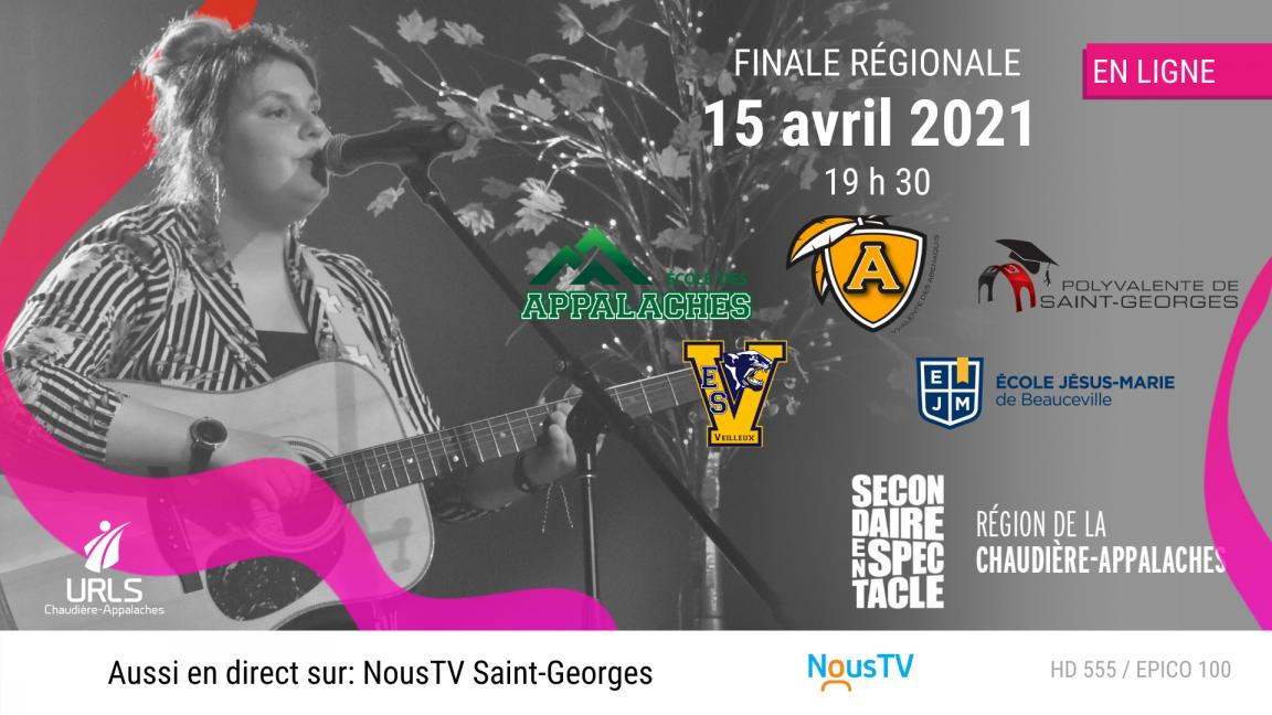 Finale régionale du 15 avril - Secondaire en spectacle Chaudière-Appalaches