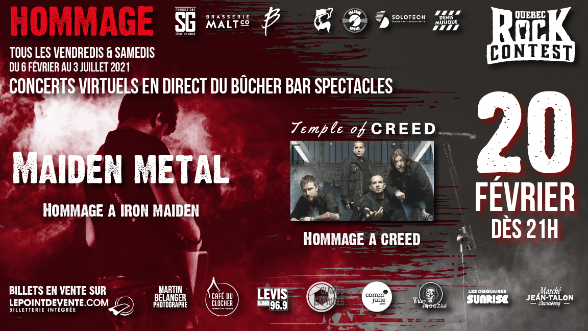 Concert virtuel : Hommage à Creed & Hommage à Iron Maiden