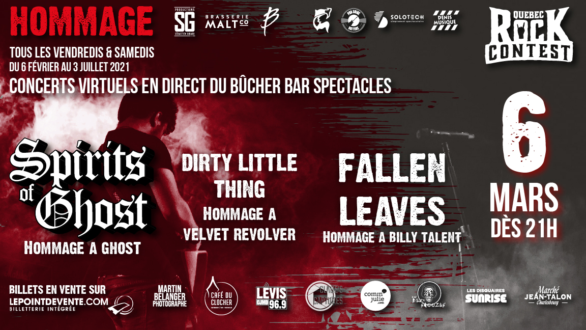 Concert virtuel : Hommage à Ghost & Hommage à Billy Talent