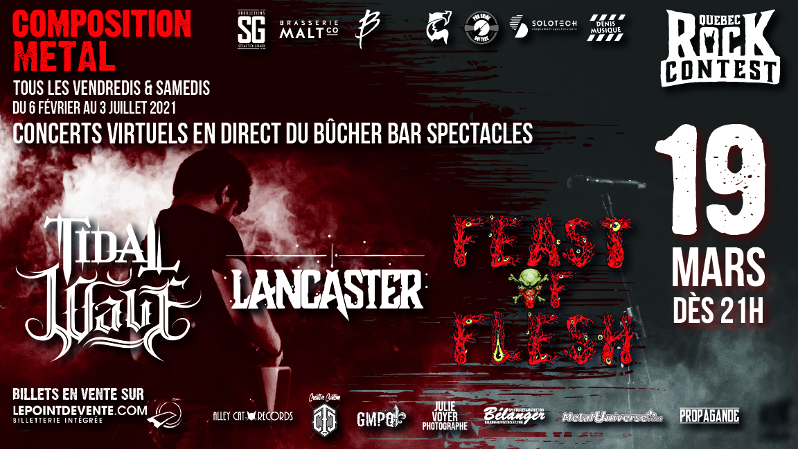 Concert virtuel : Feast of Flesh, Tidal Wave & Lancaster