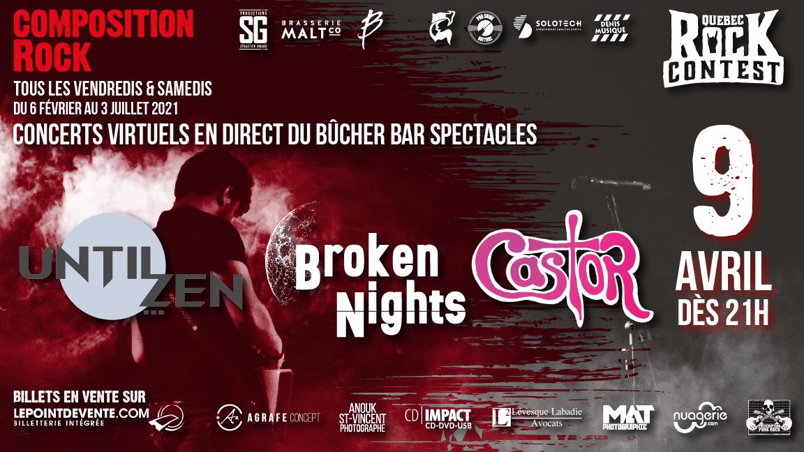 Concert virtuel : Until Zen, Broken Nights & Castor