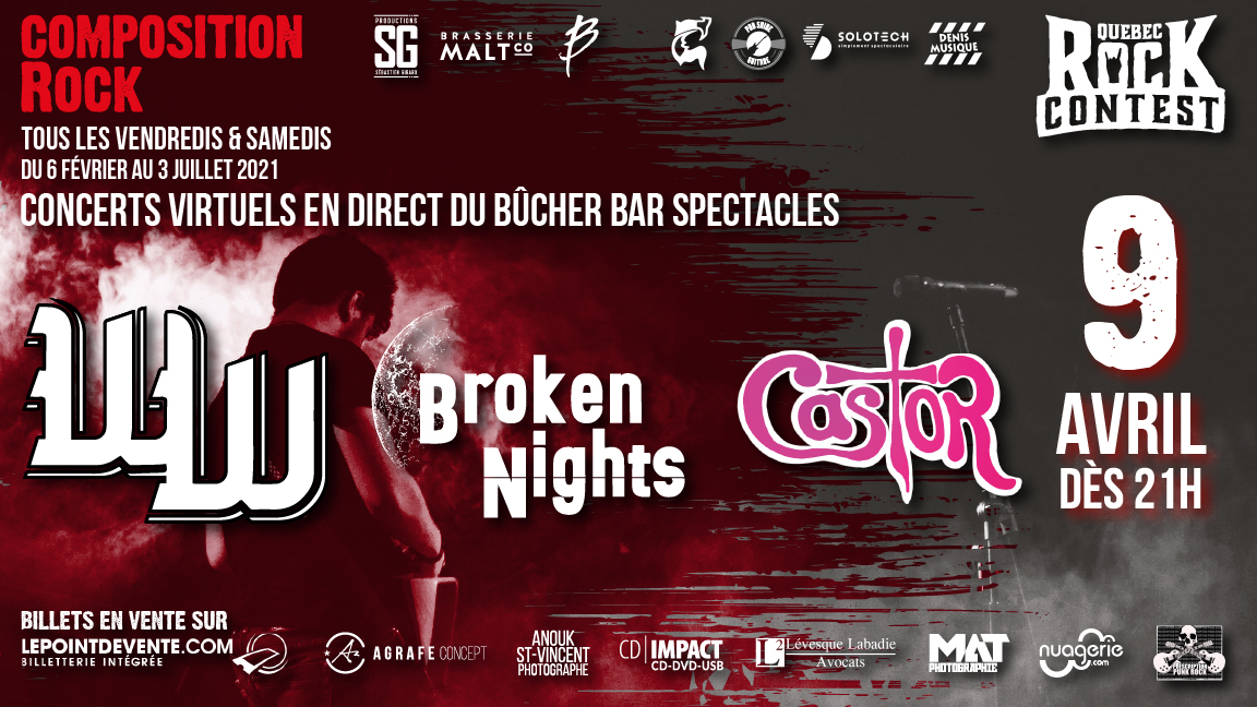Concert virtuel : The Werewolves, Broken Nights & Castor