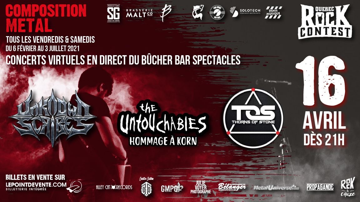 Concert virtuel : DeadMan's Prophecy, Thorns of Stone & Hommage à Korn