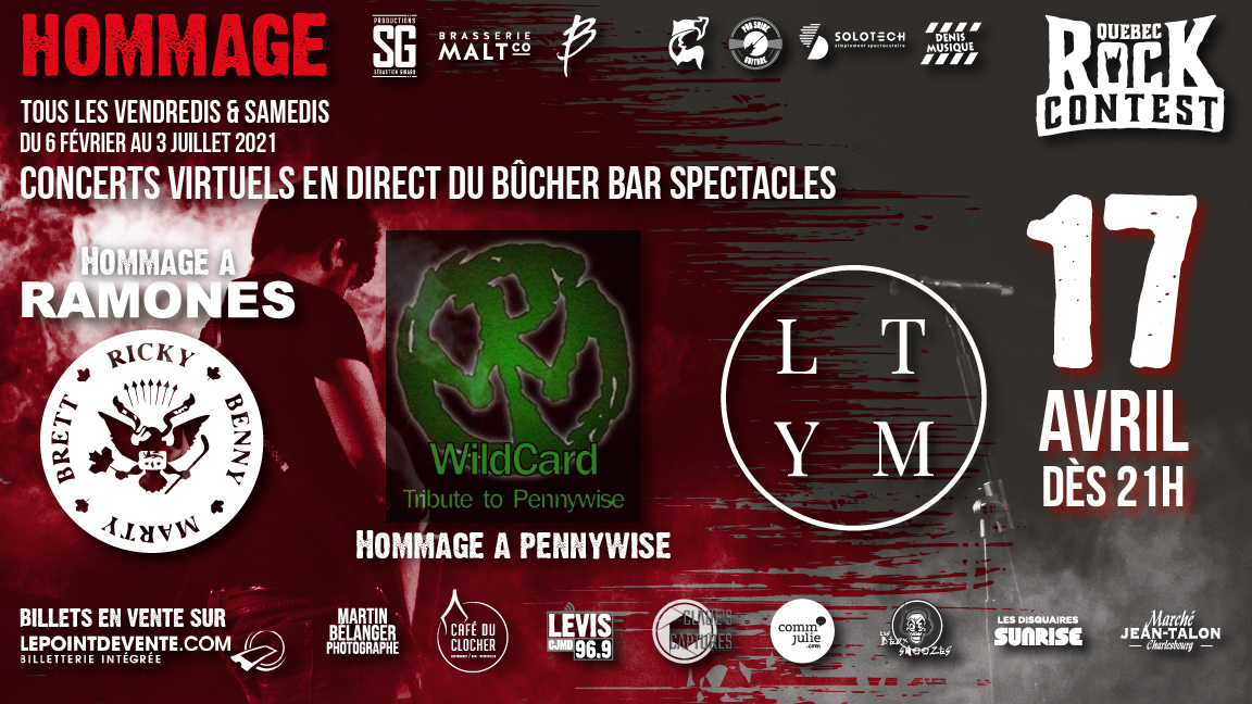 Concert virtuel : Hommage aux Ramones, Hommage à Pennywise & LTYM