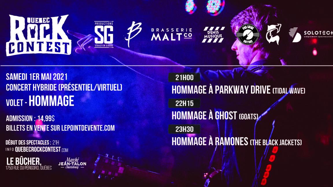 Concert virtuel : Hommage à Parkway Drive, Hommage à Ghost & Hommage à Ramones