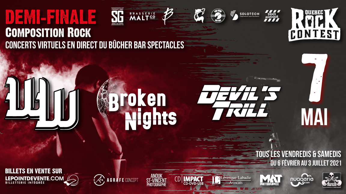 Concert virtuel : The Werewolves, Broken Nights & Devil's Trill
