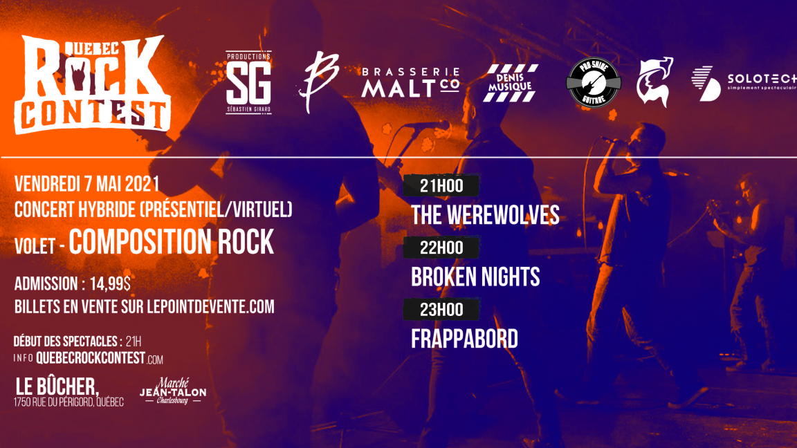 Concert virtuel : The Werewolves, Broken Nights & Frappabord