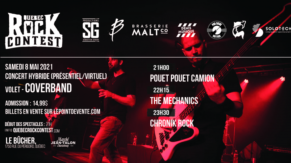 Concert virtuel : Pouet Pouet Camion, The Mechanics & Chronik Rock