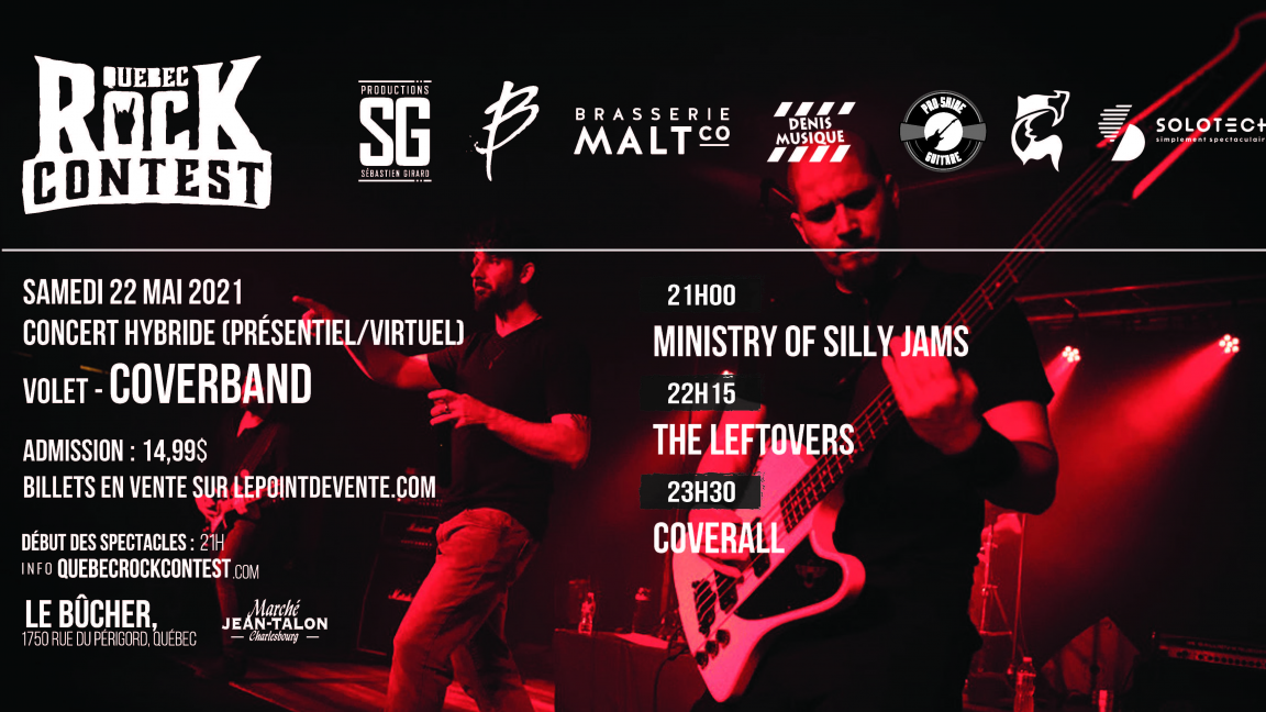 Concert virtuel : Ministry of Silly Jams, The Leftovers & Coverall