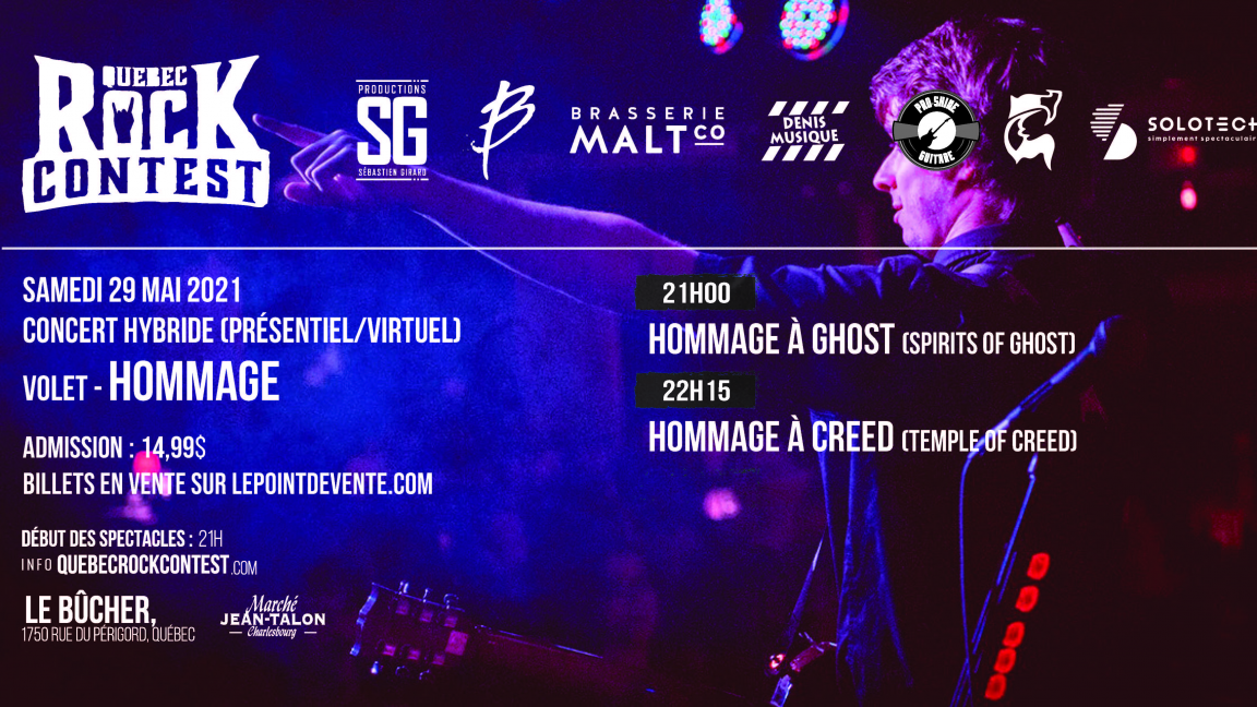 Concert virtuel : Hommage à Ghost & Hommage à Creed