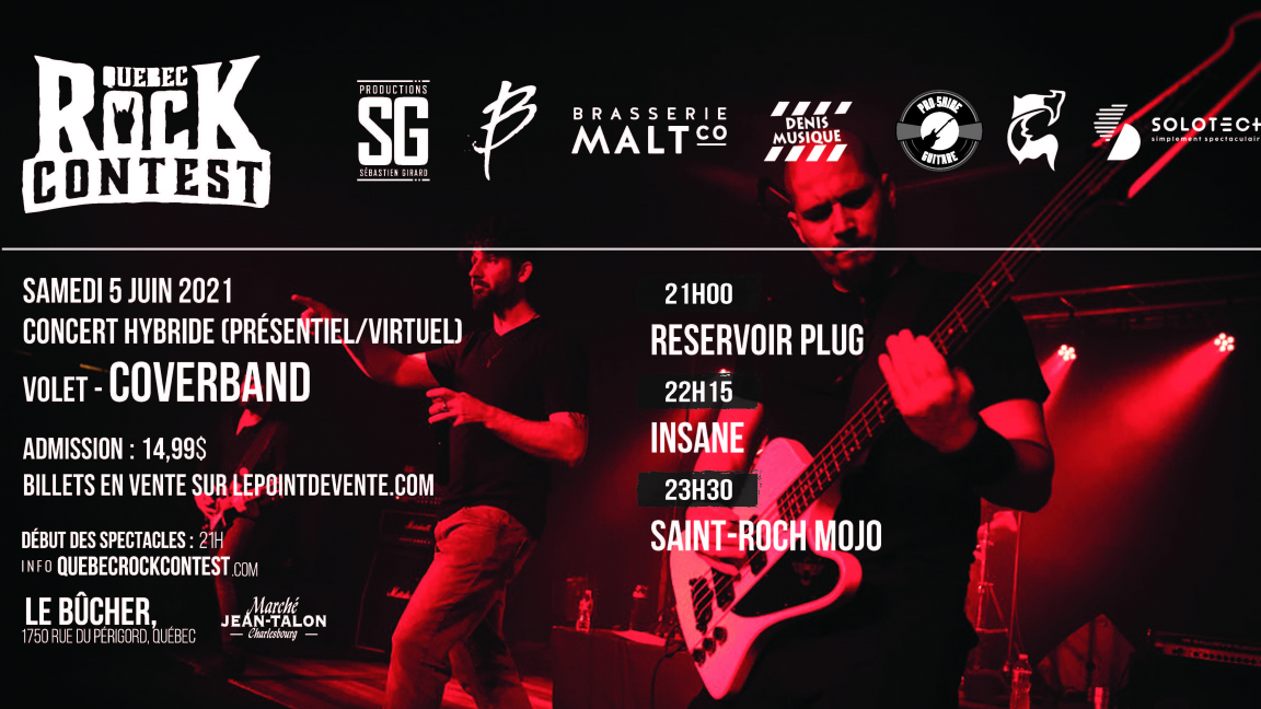 Concert virtuel : Reservoir Plug, Insane & Saint-Roch Mojo