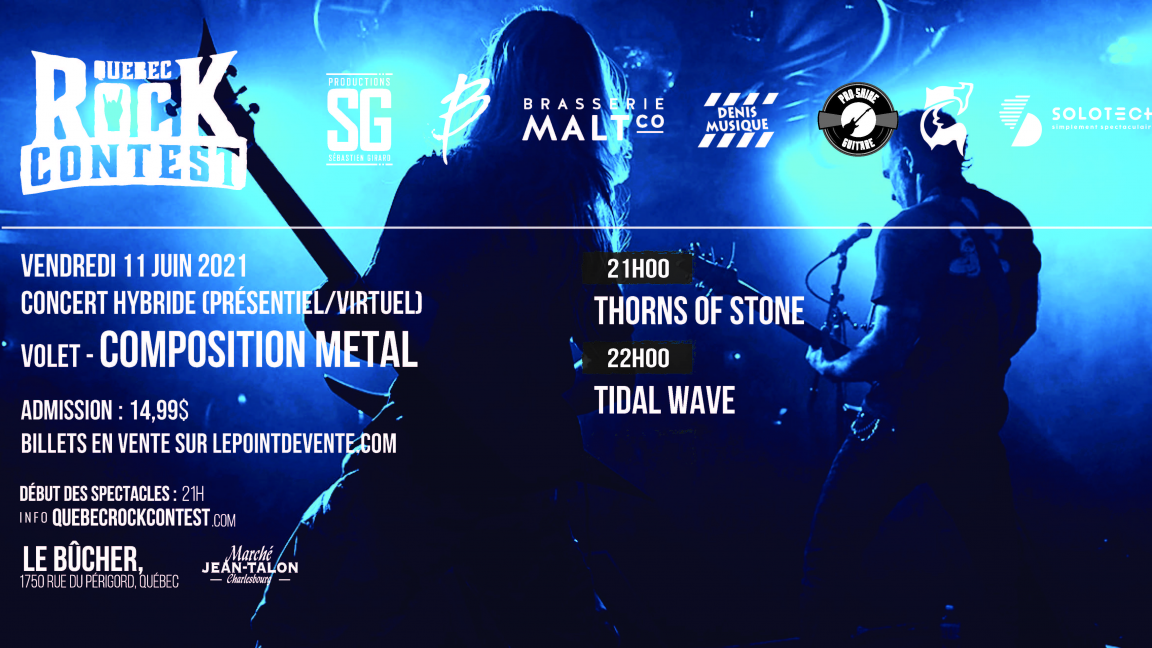 Concert virtuel : Thorns of Stone & Tidal Wave