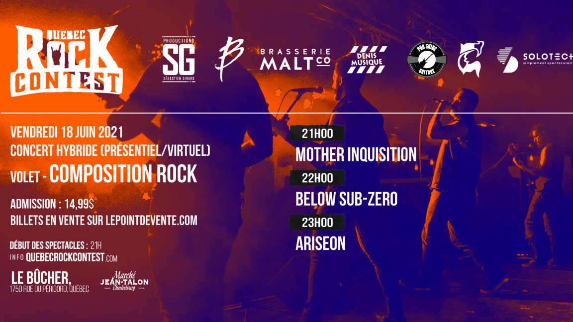 Concert virtuel : Mother Inquisition, Below Sub-Zero & Ariseon